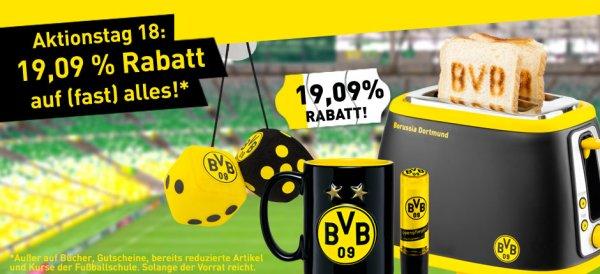 Borussia Dortmund Online Shop: 19,09% auf (fast) alles - z.B. aktuelle Trikots für 49,95€, Stutzen für 5,62€ etc.