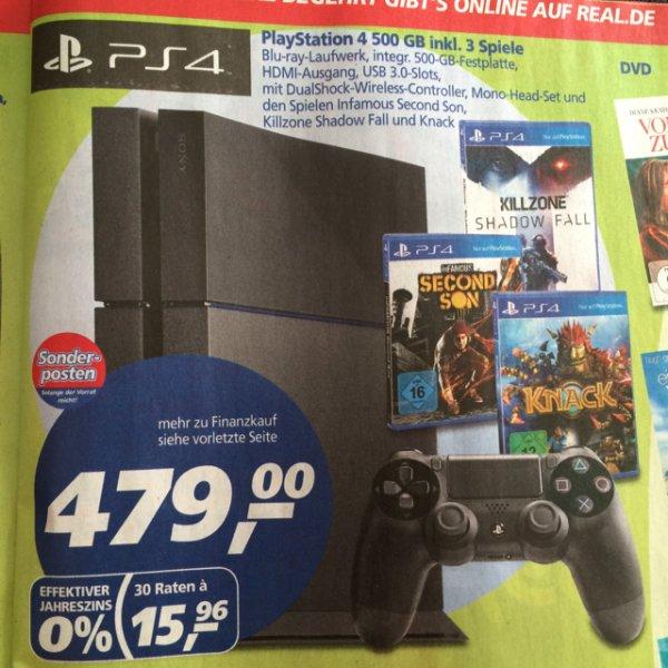 Real - Playstation 4 inkl. 3 Spiele - ggf. Lokal Aachen
