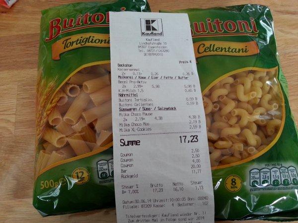 Buitoni  bei Kaufland 0,59€ statt 1,29 €