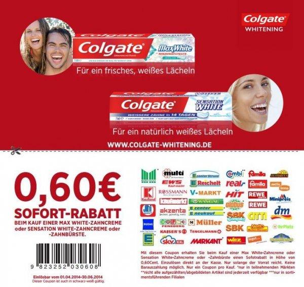 [REAL NUR HEUTE] Colgate Max White / Sensation White / Max Fresh für 0,41€