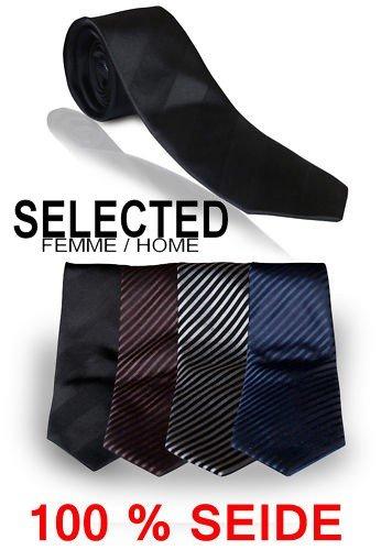 Seidenkrawatte von Selected für Herren in 4 Farben