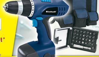 Einhell Akku-Bohrschrauber-Set BT-CD 18 2B inkl. Bitset und Tasche für 29,99€