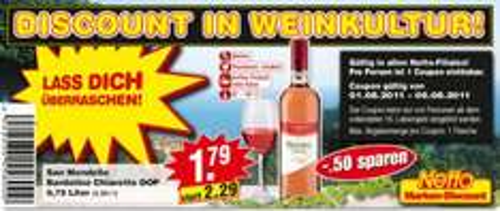 Vino d'Italia San Mondello Bardolino Chiaretto DOP 0,75 Liter, 50 Cent sparen
