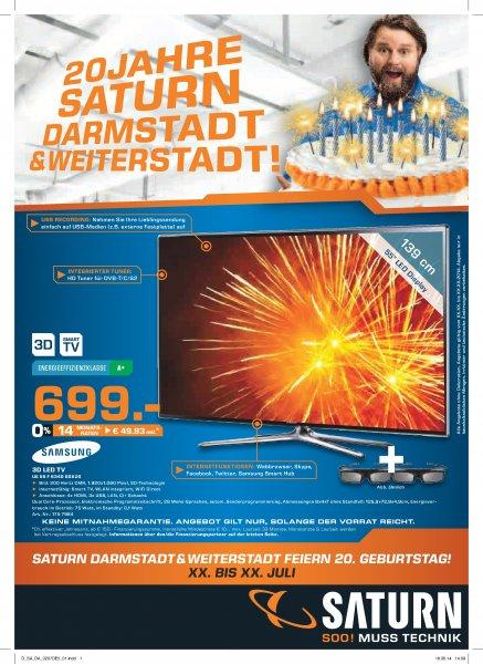 Lokal: Samsung UE 55 F 6340 für 699€ im Saturn Weiterstadt und Darmstadt