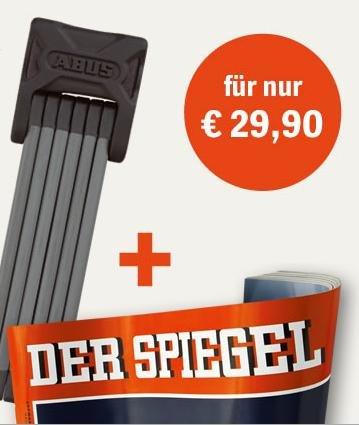 10 Ausgaben - Der Spiegel - & Abus Faltschloss Bordo für 29,90€
