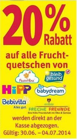 [Rossmann / Scondoo] Freche Freunde-Quetschbeutel + 20 Cent Gewinn