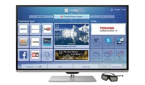 Toshiba 40L7363DG, inkl. 3D Brille 102 cm (40 Zoll), 1080p (Full HD) LED für 405,95€ @otto