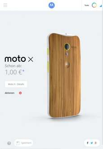 Holz Backplate fürs Moto X ohne Aufpreis im Moto Maker Deutscland