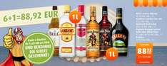 [scandinavian-park.com] 7,0Liter Captain Morgan Spiced Gold/Black, Baileys, Bells Scotch Whisky oder Smirnoff Red Label 78,21 EUR inkl. Versand (7,82 EUR pro 0,7 Flasche)