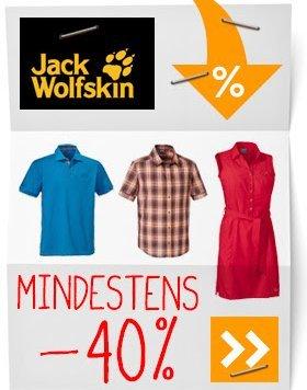 [Globetrotter.de] JACK WOLFSKIN Sale mit mind. 40 % Rabatt