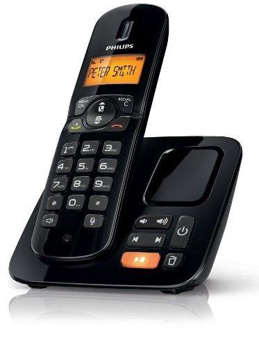 [Amazon WHD wie neu] Philips CD1864B/DE Schnurlostelefon (4,06 cm (1,6 Zoll) Schwarz weiß-Display) mit Anrufbeantworter schwarz für 24,50 statt 61 EUR