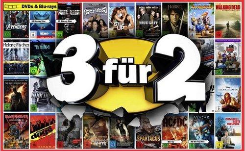 Media Markt Mülheim an der Ruhr 3 für 2 CD/DVD/BluRay/Games