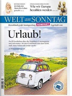 Welt am Sonntag 9x für effektiv 5€ lesen