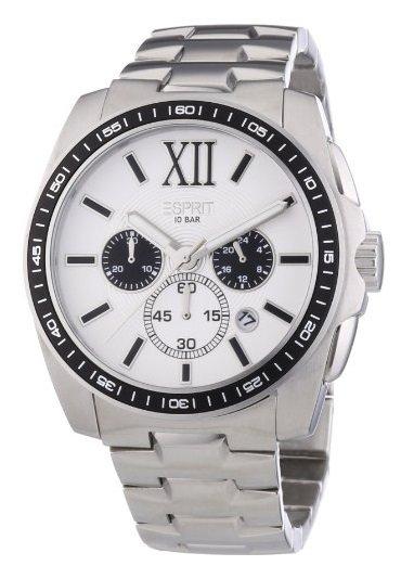 Esprit Herren-Armbanduhr Meridian Chrono Silver White Chronograph Quarz  @amazon Blitzangebot  58,99€