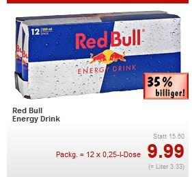 12 Dosen Red Bull für 9,99€ Kaufland Bochum (lokal?)