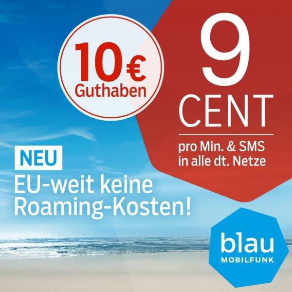 10 EURO SIM-Karte (z.B. für Handyzahlung) von blau.de für 3,90 bei Amazon.de