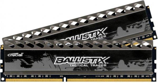 2x8GB Crucial Ballistix Smart Tracer Ram DDR3 PC3-12800 CL8 für 101,77€ - Ersparnis von 30€