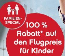 AirBerlin - 100% Rabatt auf den Nettoflugpreis für Kinder bis 11 Jahre,