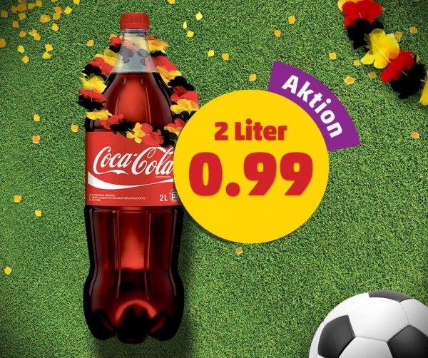 [Penny Bundesweit] Coca Cola 2 Liter Flasche für 0,99€ + 0,25€ Pfand (nur heute 14-18Uhr)