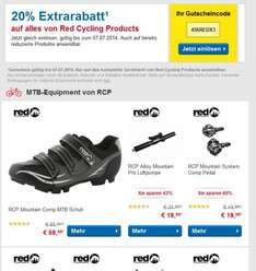 Red RCP Comp Fahrradschuh SPD 47,99  inkl. Porto oder 20% auf alle Red Cycling Produkte