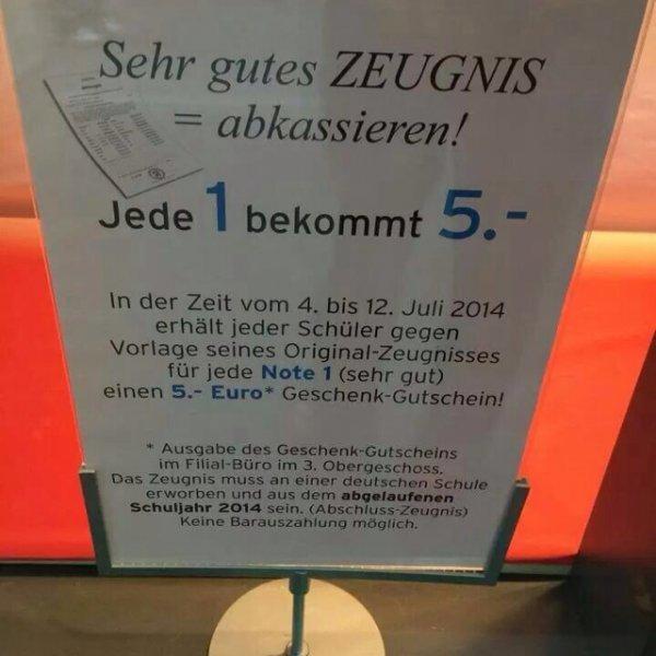 Lokal(Karstadt Bonn) jede 1=5€