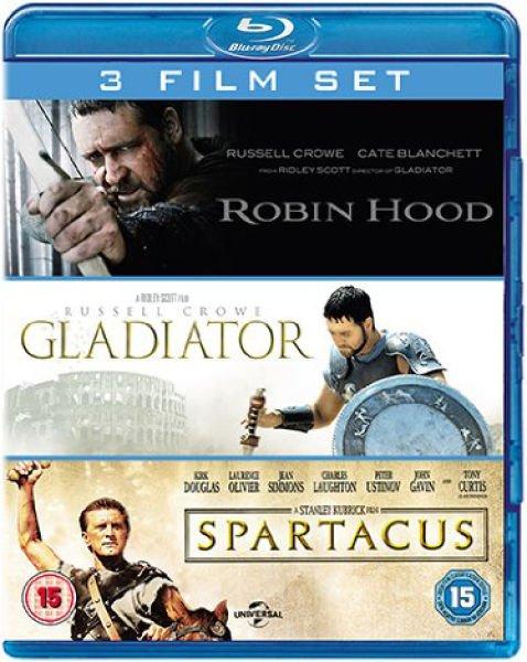 Gladiator / Spartacus / Robin Hood [Blu-ray] und weitere 3 Film-Sets bei zavvi für je 7,56€