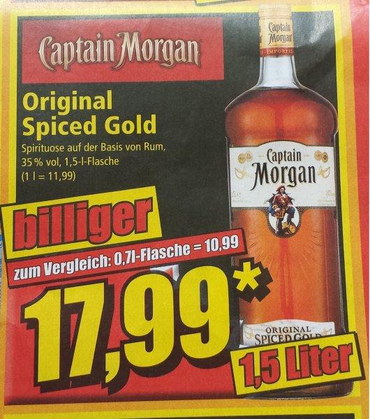 Captain Morgan 1,5 Liter für 17,99 bei NORMA ab 11.07.14