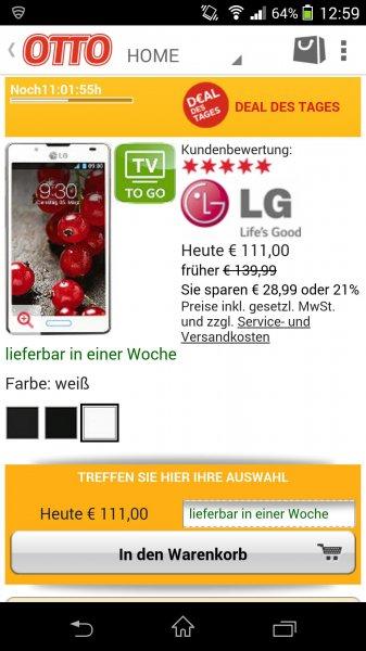 LG Optimus L7 II für 111 Euro inkl. Versand @Otto.de