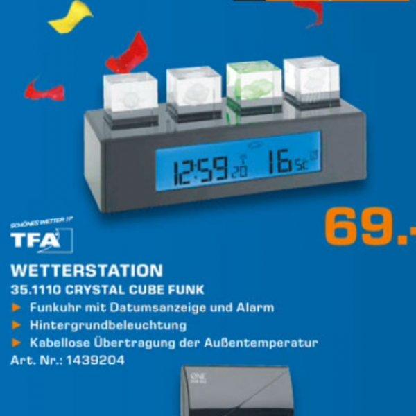 Tfa Cube Wetterstation 69€ bis Mittwoch