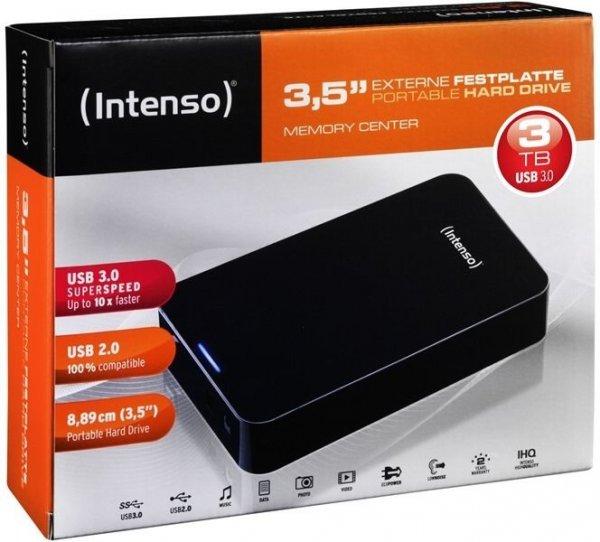 Intenso Memory Center 3TB USB 3.0 externe Festplatte wieder für 79, 90 bei EBAY erhältlich