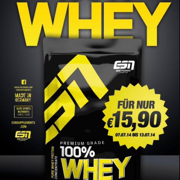 ESN 100% Whey für 15,90€/KG @ Fitmart