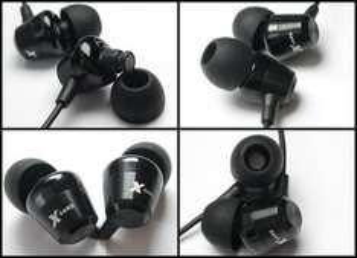 Gute In Ear Kopfhörer Xears Resonance black aus Metallguß zum halben Preis