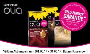 Garnier Olia Geld-zurück-Garantie Aktion