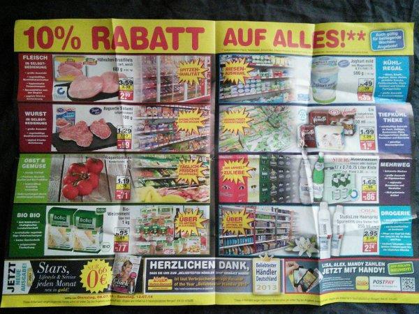 8.7.14-12.7.14 Netto Marken-Discount Wiedereröffnung 10% auf (fast) alles (Krefeld)