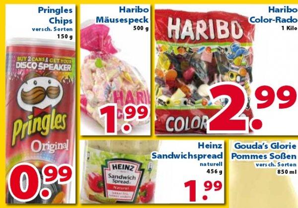 Pringles für 99 Cent, Haribo 1kg  Color-Rado  2,99€  ...  (Die 2 Brüder von Venlo)