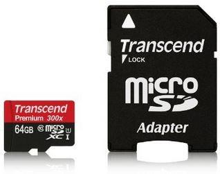 Transcend 64GB microSDXC Speicherkarte Class10 UHS-1 für 29,90€ bei Amazon.de
