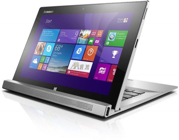 Lenovo MIIX2-11 29,5 cm (11,6 Zoll Multi-Touch FHD IPS) Convertible Tablet (Intel Core i5 4202Y, 2.0 GHz, 4GB RAM, 256GB SSD, Tastatur,Win 8) silber