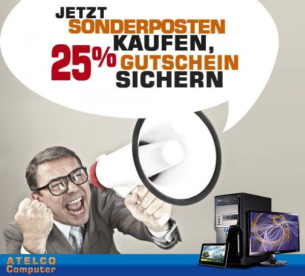 25% Gutschein beim Sonderpostenkauf