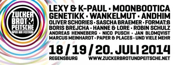 Zuckerbrot und Peitsche Festival Ticket mit bis zu 30 € Rabatt (REGENSBURG)