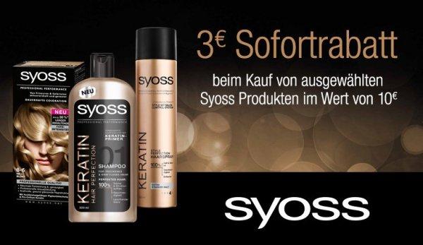 3 EUR auf Syoss Produkte (MWB 10 EUR)
