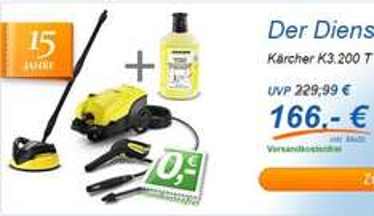 Kärcher K3.200 T250 für 166,00 Euro inkl. Versand @ Computeruniverse