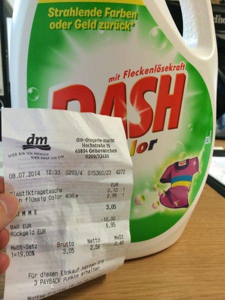 Dash Flüssigwaschmittel Color oder Weißes 40 WL 2,95 € (lokal?!)