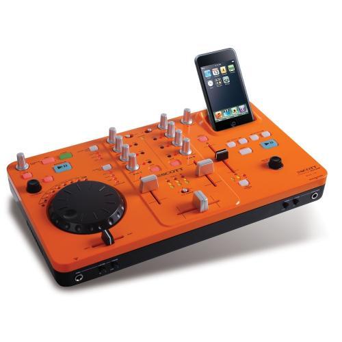Scott DJX 10i DJ-Mischpult (2-Kanal-Mixer, Dock und Ladegerät, USB 2.0) für Apple iPod
