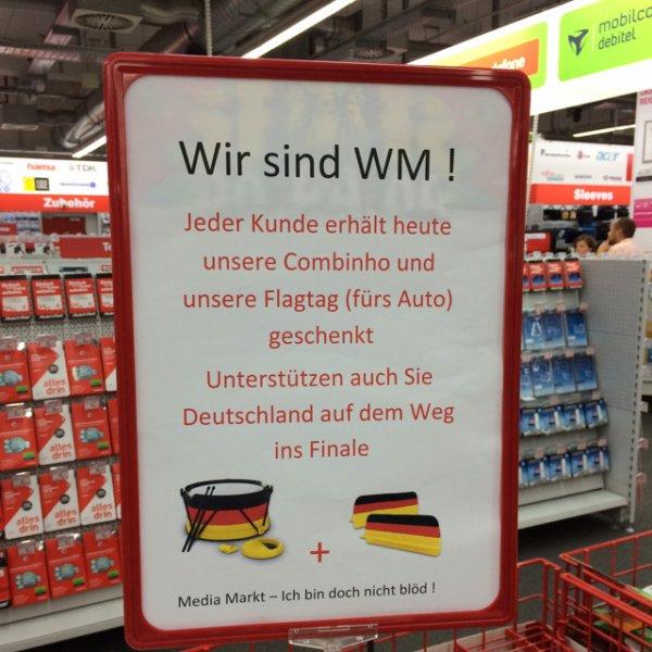Combinho und Flagtag heute gratis bei Media Markt Schöneweide (lokal?)