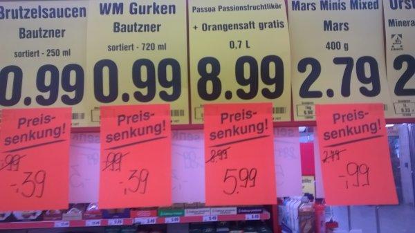 [Netto]WM Produkte drastisch reduziert!! z.B Bautzner Gurken und Soßen!!!