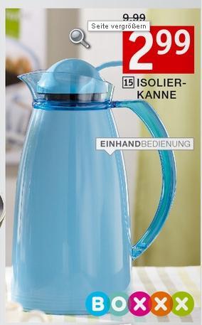 Isolier/Thermoskanne für 2,40€ @ XXXL Möbelhäuser [OFFLINE]