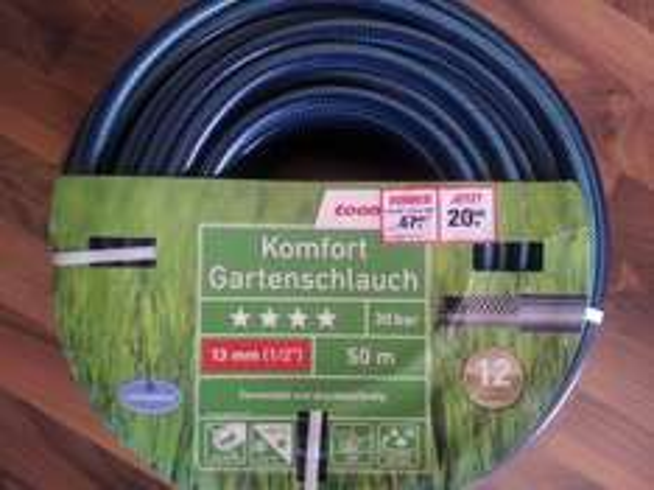 """[toom Baumarkt Nieder-Olm] Komfort Gartenschlauch 50m 1/2"""" für 20,- €"""