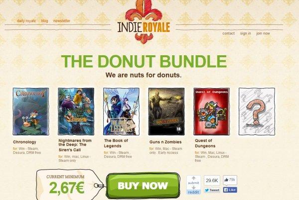 """[Steam][Indieroyale] The Donut Bundle """"5 Steam Spiele+Bonus"""""""