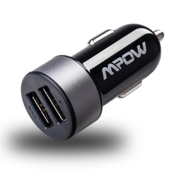 Mpow® Dual Schnellader Kfz Ladegerät 2 USB Ports mit bis zu 3.4Amps (2.4Amps + 1.0Amps) für  5,49€