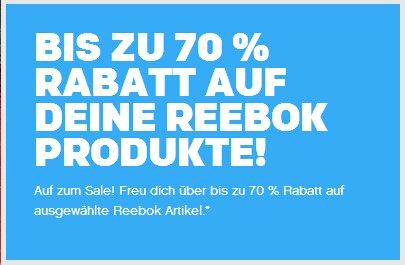BIS ZU 70 % RABATT AUF DEINE REEBOK PRODUKTE